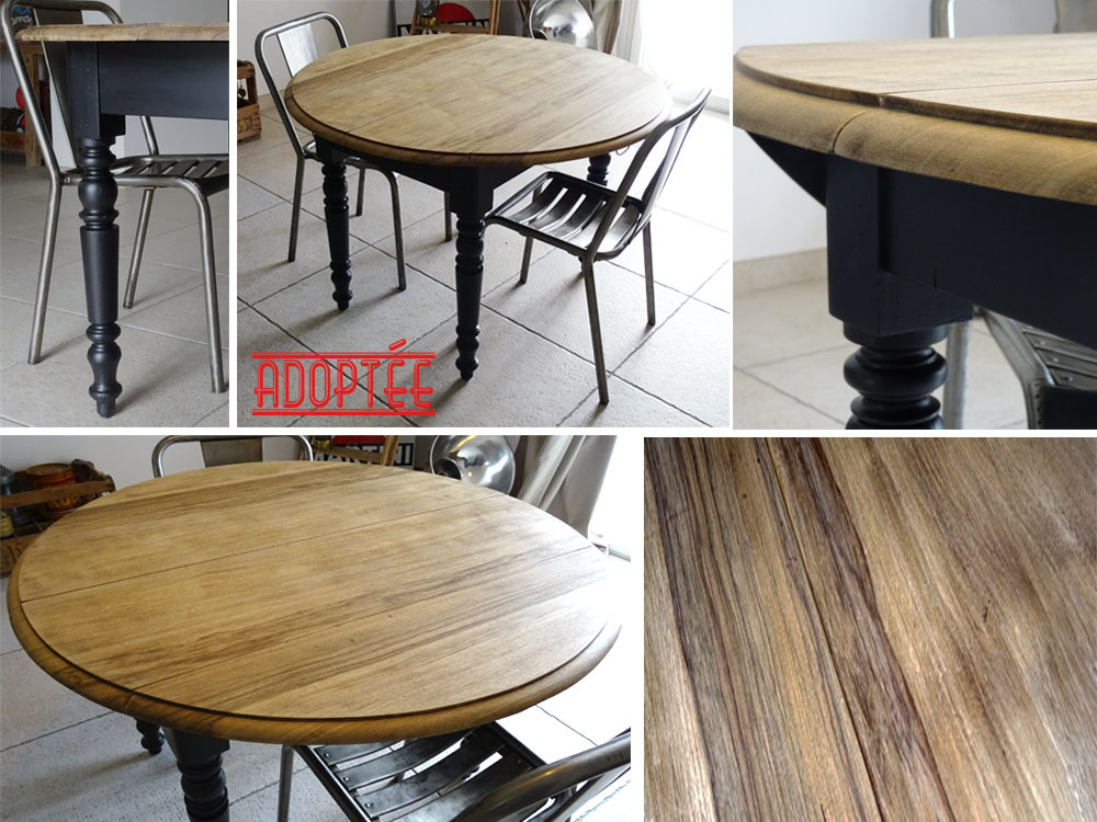 Table ronde volets l 39 afterbroc - Table ancienne repeinte ...