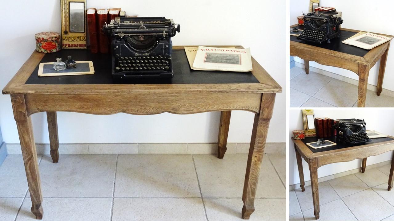 Ancien bureau en bois l afterbroc