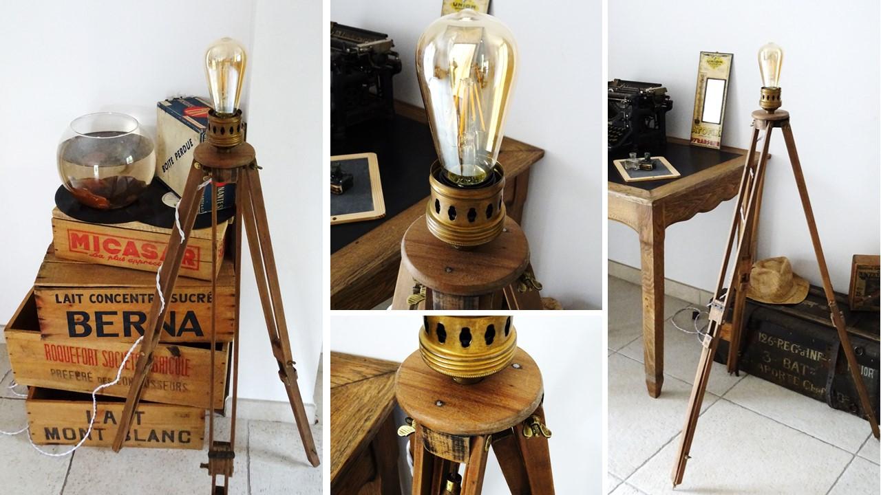 lampe tr pied bois l 39 afterbroc. Black Bedroom Furniture Sets. Home Design Ideas